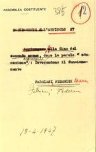 Emendamento all'articolo 27
