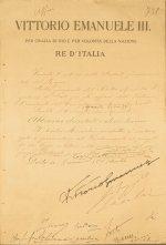 Decreto di autorizzazione per la presentazione di un disegno di legge al Parlamento,  15 dicembre 1910 ASCD, Archivio della Camera Regia, Disegni e proposte di legge e incarti delle Commissioni, vol. 900, A. C. 738.