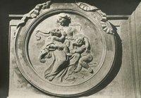Ingresso principale Piazza Montecitorio - Particolare del medaglione scultoreo