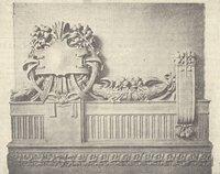 Particolare del fregio al disopra delle tribune nell'aula Basile, inaugurata nel 1918