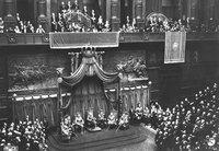 Camera dei Fasci e delle Corporazioni. Il Re inaugura la Legislatura
