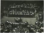 Seduta parlamentare a Montecitorio; banchi del governo