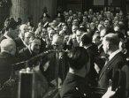 Einaudi e la moglie con il presidente della Camera Gronchi e il presidente del Senato Bonomi