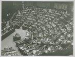 L'emiciclo della Camera durante la presentazione del nuovo Governo Pella