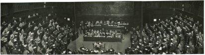 L'emiciclo della Camera durante il voto di fiducia al Governo Pella