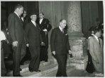 Il presidente della Camera dei Deputati Giovanni Leone riceve il vicepresidente degli Stati Uniti Richard Nixon