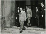 Il presidente della Camera dei Deputati Giovanni Leone riceve l'ambasciatore dell'URSS Semion Pavlovic Kozyrev