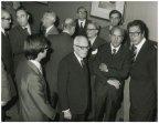 Il presidente della Camera dei Deputati Alessandro Pertini incontra il presidente dell'Unione Interparlamentare