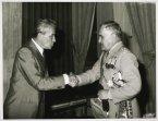 Il presidente della Camera dei Deputati Pietro Ingrao riceve il generale Andrea Viglione