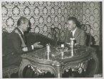 Il presidente della Camera dei Deputati Pietro Ingrao riceve il comandante generale della Difesa