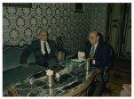 Il Presidente della Camera dei Deputati Giorgio Napolitano incontra il Vicepresidente del Consiglio Superiore della Magistratura Giorgio Galloni