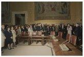 Il Presidente della Camera dei Deputati Irene Pivetti incontra per un saluto Capi Servizio, Capi Ufficio, rappresentanti Sindacato e Personale della Camera dei Deputati