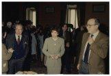 Il Presidente Irene Pivetti consegna medaglie ai pensionati della Camera dei Deputati