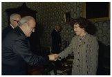 Il Presidente della Camera dei Deputati Irene Pivetti incontra una delegazione di Foligno