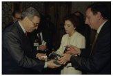 Il Presidente della Camera dei Deputati Irene Pivetti riceve il Segretario Generale dell'ONU Boutros Boutros-Ghali