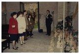 Il Presidente della Camera dei Deputati Irene Pivetti incontra i ragazzi della Scuola Media Statale Archimede di Bolzano che le hanno regalato un presepe