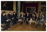 Il Presidente della Camera dei DeputatiIrene Pivetti incontra il Presidente della Repubblica d'Ungheria Árpád Göncz