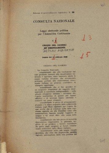 Archivi della transizione costituzionale 1944 1948 for Camera dei deputati commissioni