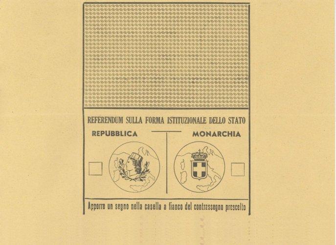 Scheda di votazione per il referendum istituzionale del 2 giugno 1946